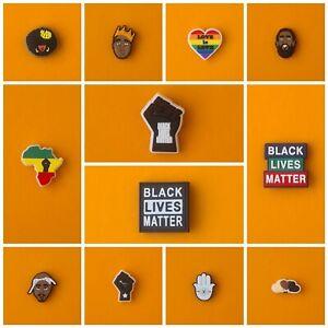 Schuhstecker/Shoe Charms/Pins/Anstecker für Clogs/Crocs* BLACK LIVES MATTER