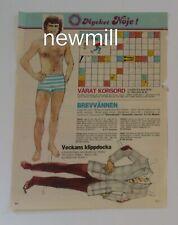 Patrick Duffy magazine paperdoll vintage 1985 uncut Dallas Sweden
