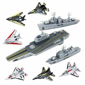 deAO Model Military Naval Ship Aircraft Carrier Toy Play Set with Small Scale