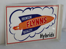 FLYNNS HYBRIDS Farm Feed Flange Sign Corn & Rocket Spaceship UFO modern retro