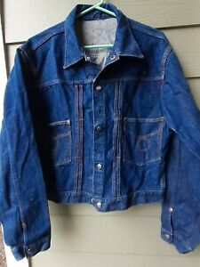Vintage 1970/'s Montgomery Ward Dark Denim Jacket Size Small