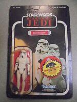 STORMTROOPER~Vintage Star Wars ROTJ 77 Back MOC~UNPUNCHED! Anakin Sticker~RARE!!