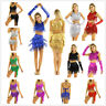 Women Rumba Latin Dance Dress Sequin Tassels Belly Tango Ballroom Salsa Costume
