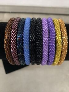 * USA 10 SET - Bracelet- Made in NEPAL - 100% Handmade seed beaded Bangle Gift