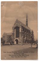 Vintage Postcard Park Avenue Christian Church Disciples of Christ NYC J-18
