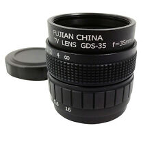 Television TV Lens/CCTV Lens for C Mount Camera 35mm F1.7 in Black T4U2