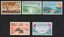 Rhodesia & Nyasaland Part Set of Stamps c1960 Mounted Mint Hinged
