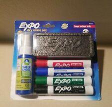 EXPO Low Odor Dry Erase Marker Starter Set Chisel Assorted 4/Set 80653