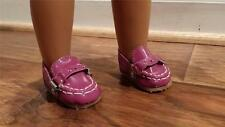 """VIOLET Shoes Driving Moccasins fits 18"""" American Girl Dolls"""