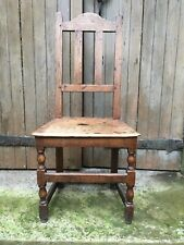 17th Century Turned Country Hall Dining Single Chair Pegged Oak Joyned Joint