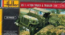 Heller 79997 - US 1/4 Ton truck & Trailer - 1:72