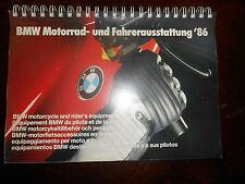 BMW 1986 Motorrad-und Fahrerausstattung Motocycle and Rider's Equipment Catalog