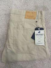 BNWT Jack Jones Beige Tim Original white pepper slim fit tousers jeans