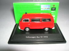 Welly Volkswagen VW T2 T 2 Bully Bus Year 1972 Fire Brigade Metal, 1:87 H0