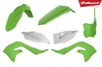 Polisport Plastic Kit Kawasaki KXF 450 KX 450F 2019 19 Green White OEM 90816 MX