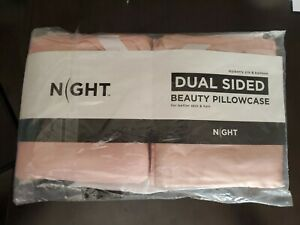 Dual Sided Beauty PillowCase By Night Mulberry Silk And Bamboo - Queen - BLUSH