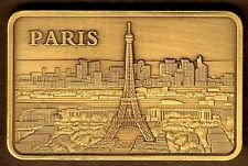 ★★★★★ JOLI LINGOT PLAQUE BRONZE ● PARIS ★★★★★