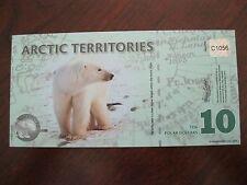 2010 ARTIC TERRITORIES $10 POLAR DOLLARS   POLYMER  NOTE