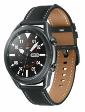 Samsung Galaxy Watch3 SM-R840 45mm cassa in acciaio inossidabile con cinturino in pelle - Mystic Black (Bluetooth) - SM-R840NZKAEUA