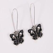 Enameled Butterfly Punk Drop Skull Dangle Earring Jewelry Gothic For Women