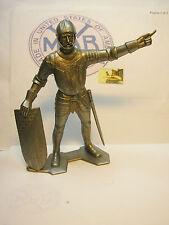 Soldatino Toy Soldier Gigante Marx originale marcato Medievale plastica cm 15