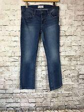 NEW Free People Vista Denim Medium Wash Straight Leg Jeans Low Waist 27 OB407547