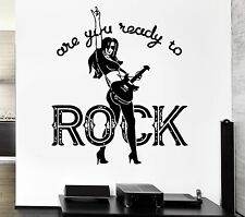 Music Rock Quote Are You Ready For Rock Art For Living Room Wall Decal (z2621)