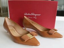 Authentic Beautiful Salvatore Ferragamo Leather Pumps Size 5 1/2
