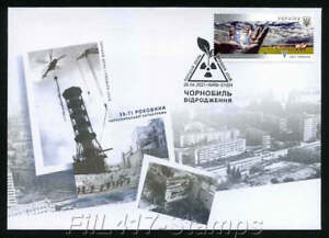 2021 Ukraine. FDC- 35 years of the Chernobyl disaster. Looking to the future.