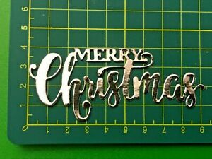"""10 """"Merry Christmas"""" Glitter, Metallic or Foil Die Cut Shapes - Choose your Card"""