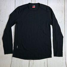 ICEBREAKER Merino BodyFit 260 Crewneck Base Layer Shirt Black Mens Small