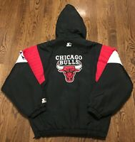 Vintage Chicago Bulls Starter Jacket Large Basketball Air Jordan Era NBA 90s
