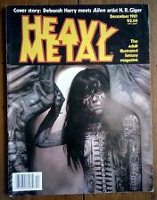 HEAVY METAL MAGAZINE, CORBEN, CHAYKIN, MOEBIUS, DEBBIE HARRY, DECEMBER 1981, VF-