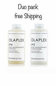 Olaplex No.4 Shampoo 250ml & No.5 Conditioner 250ml DUO Free Shipping !!