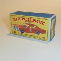 Matchbox Lesney 59 c Ford Galaxie Fire Chief empty Repro E style Box