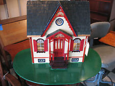 PAINTED  LADY   DOLL   HOUSE   HAND ASSEMBLED  AND   PAINTED  ALL WOOD