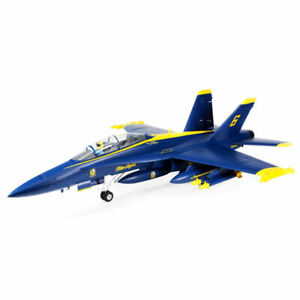 E-Flite # 13950 F-18 Blue Angels 80mm EDF BNF Basic MIB