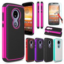 For Motorola Moto E5 Play/Cruise Hard Armor Case Cover / Glass Screen Protector