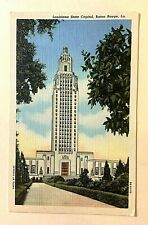 "BATON ROUGE, LA, ""Louisiana State Capital"" Vintage Unused Linen PC 407"