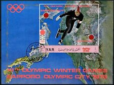 Yemen 1972 Winter Olympic Games Cto Used M/S #D64961