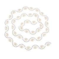 Pearl Diamante Trims Rhinestone Trimming Crystal Close Chain Applique 1 Yd