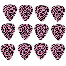 12 Pack LEOPARD ANIMAL PINK Medium Gauge 351 Guitar Picks Plectrum Celluloid