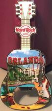 Hard Rock Hotel ORLANDO 2016 Guitar MAGNET Bottle Opener V15 City Tee Shirt NEW!