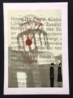 Ernst Mitzka, Zwei Arbeitslose im Glanz einer nächtlichen Bank, Siebdruck, 1983