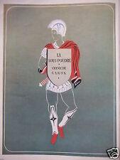 PUBLICITÉ 1952 CARON SOUS-POUDRE ET CREME - ADVERTISING