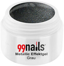 Metallic Effektgel Grau 5ml Farbgel UV Nagel Gel Effektfarbe Metallic Nails
