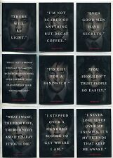 Gotham Season 1 Complete Quotes Chase Card Set Q1-9
