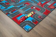 Carsteppich Cars Straßenteppich grau Velour NEU 200cm Breite Disney