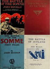 34 RARE JOHN BUCHAN WORLD WAR 1 BOOKS INCLUDING NELSON'S HISTORY OF WAR ON DVD