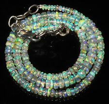 """38 Carat 16"""" 2 to 5 mm Natural Ethiopian Welo Fire Opal Beads Necklace -EB72570"""
